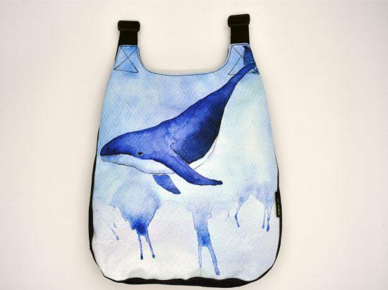 Mochila diferente con dibujo de ballena