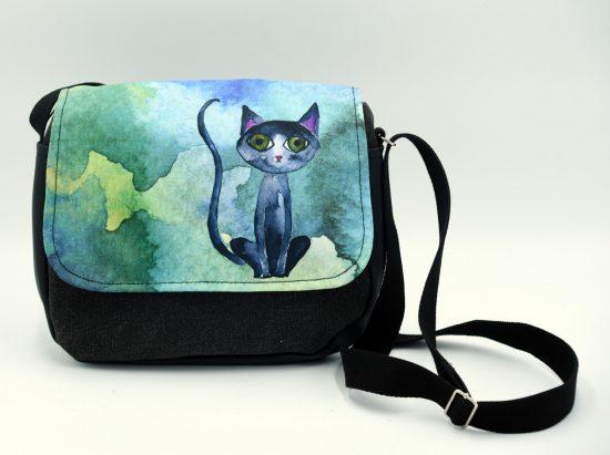 Bolso con dibujo de gato